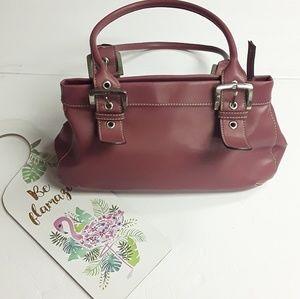 Nine West》Pink Handbag Silver Buckles Purse
